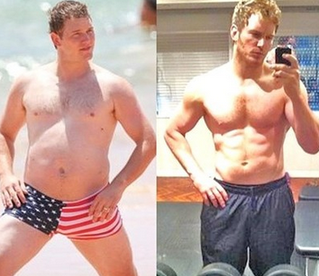 Chris Prat Before and After