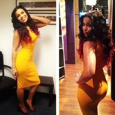 jordin sparks tiny yellow dress