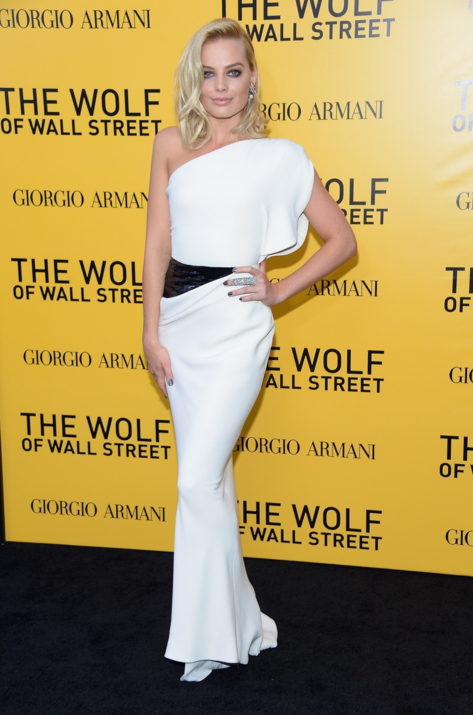 Margot Robbie at the premiere of The Wolf of Wall Street