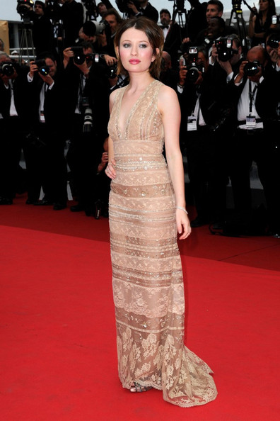 Emily Browning at the Sleeping Beauty premiere at Cannes.