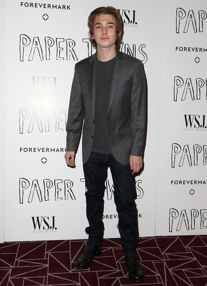 Austin Abrams at the special screening of 'Paper Towns'