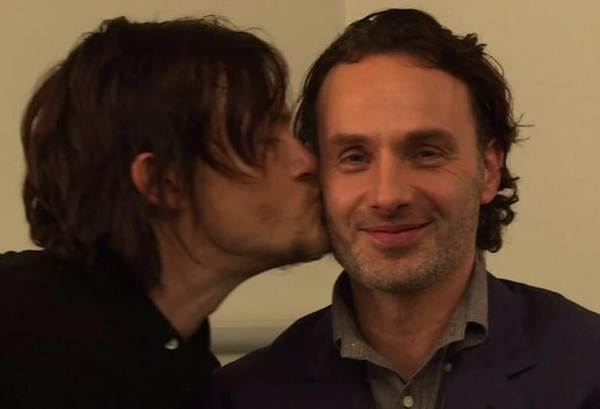 Andrew Lincoln and one of his best fiends Norman Reedus