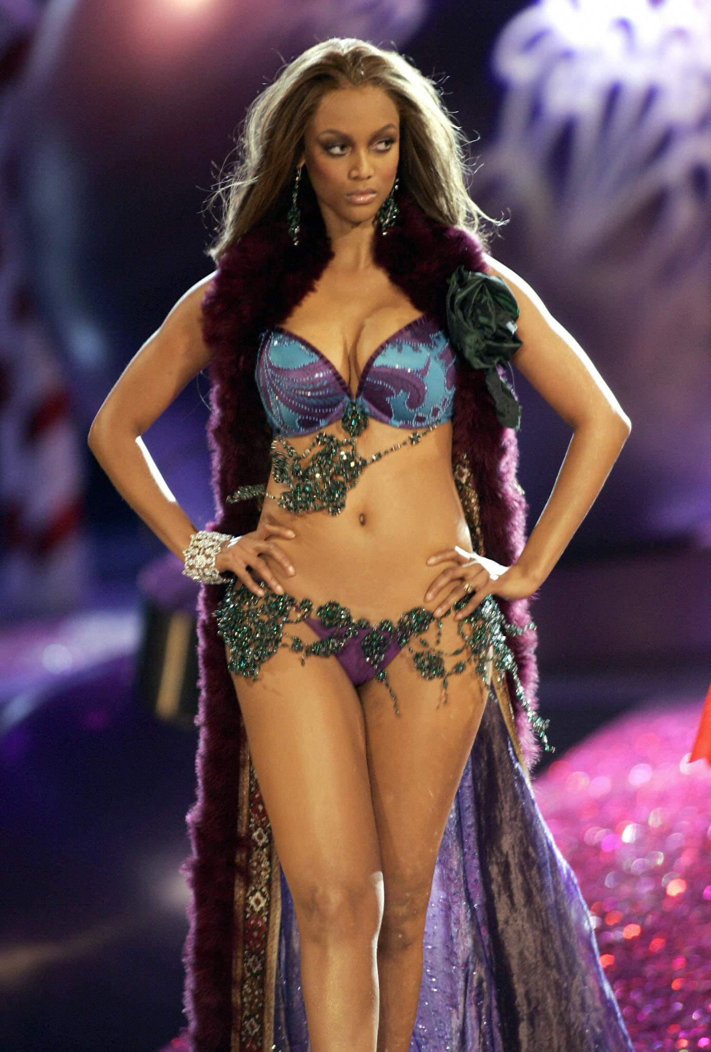 Tyra Banks at Victoria's Secret Show