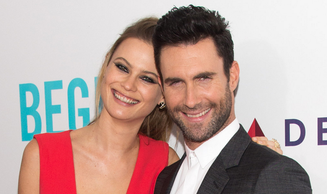 Behati and Adam at Begin Again Premiere