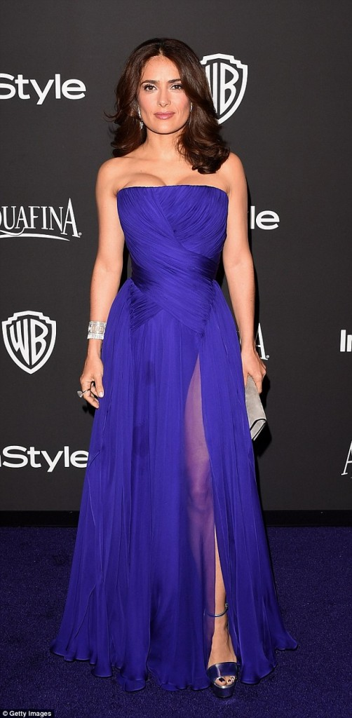 Salma Hayek – The Weinstein Company & Netflix's 2015 Golden Globes Party