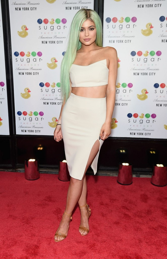 Kylie Jenner attends The Grand Opening at Sugar Factory American Brasserie