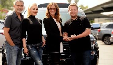 James Corden Carpool Karaoke with George Clooney, Julia Roberts and Gwen Stefani