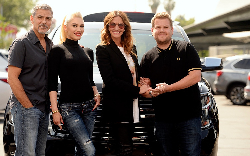 James Corden Carpool Karaoke with George Clooney, Julia Roberts and Gwen Stefani