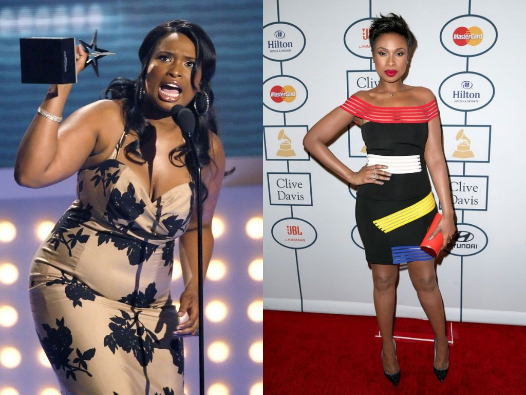 Jennifer Hudson. before and after weight loss