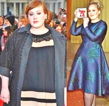 Adele 50-pound weight loss
