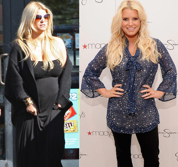 Jessica Simpson. Before and after