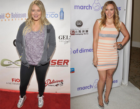 Hilary Duff weight transformation
