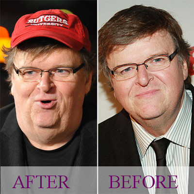 Michael Moore photo Before & After
