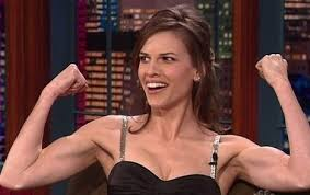 Hillary Swank work out
