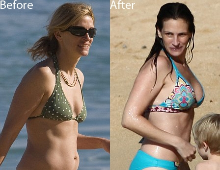 Julia Roberts before and after