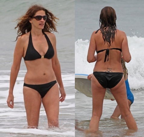 Julia Roberts Beach Look