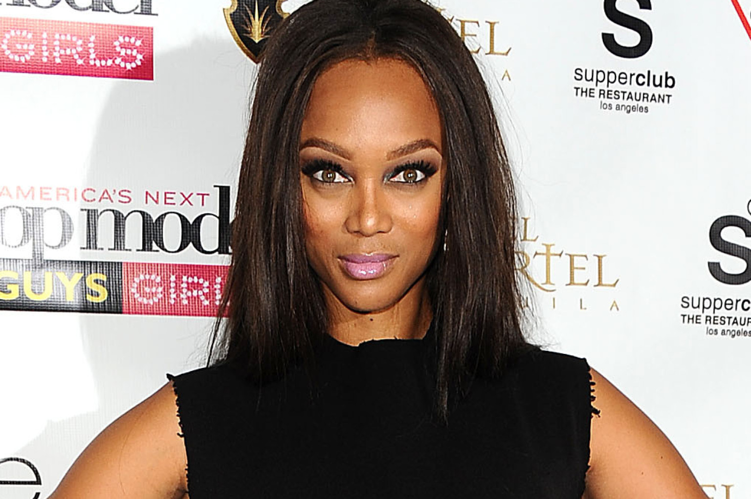 "LOS ANGELES, CA - AUGUST 07:  Tyra Banks attends the ""America's Next Top Model"" 20th cycle gala celebration at SupperClub Los Angeles on August 7, 2013 in Los Angeles, California.  (Photo by Jason LaVeris/FilmMagic)"
