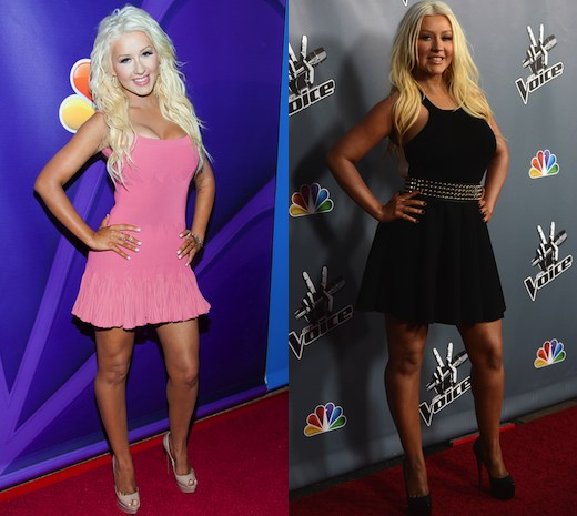 Christina Aguilera's weight loss transformation
