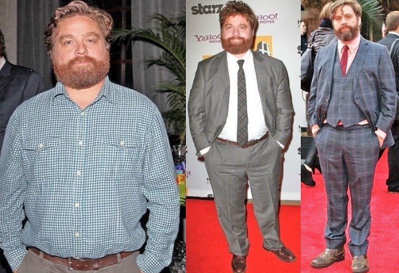 Zach Galifianakis weight loss was due to alcohol free diet