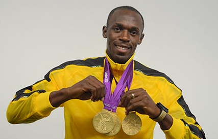 Usain Bolt Gold Metals