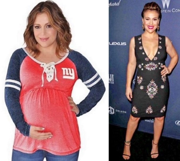 Alyssa Milano 46 Pound Weight Loss Before And After Pregnancy