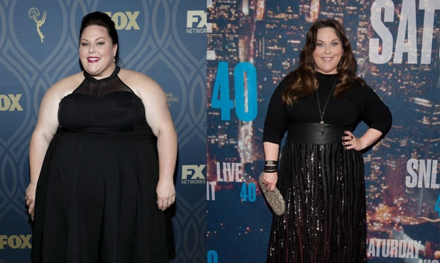 Chrissy Metz before and after she lost all the weight.